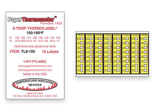 8 TEMP THERMOLABEL TL8-100