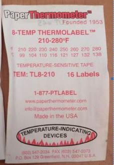 8-TEMP THERMOLABEL TL8-210